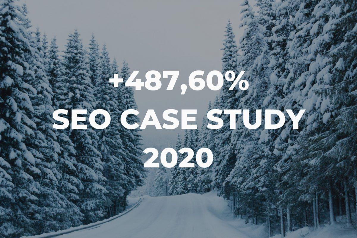 SEO case study 2020   +487,60%